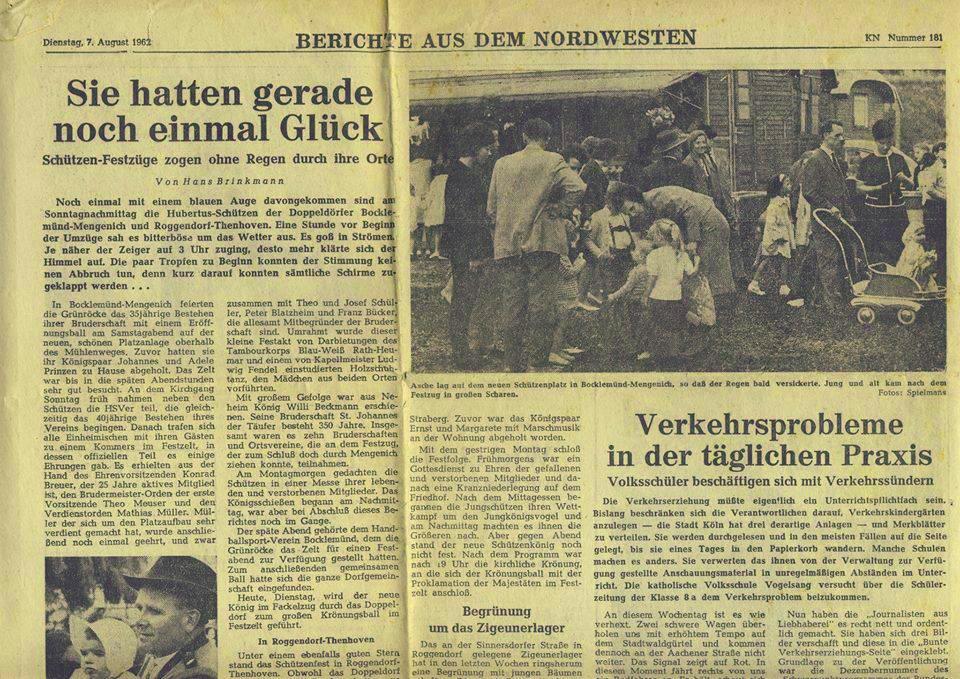 Zeizingsausschnitt vom 07. Aug.1962